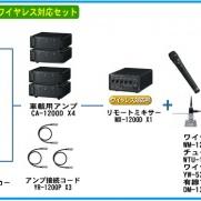 TOA選挙用大型車載システム480W 角型ホーンスピーカー4個 ワイヤレス対応[GE-480S4D]
