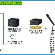 TOA選挙用大型車載システム240W 角型ホーンスピーカー4個 ワイヤレス対応[GE-240S4D]